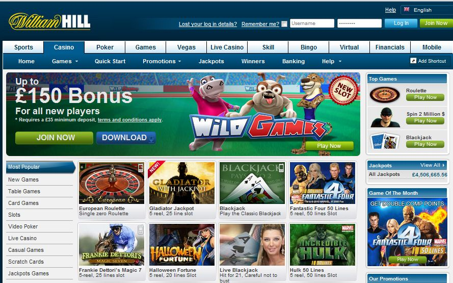 online casino william hill slots gratis online